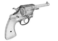 gun, pistol - stock illustration