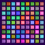 3d square mosaic. Vintage colorful texture - stock illustration