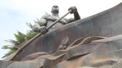 Public Works Sculpture in GUAM, USA Stock Footage