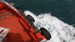 Ship Sailing On Sea Stock Footage