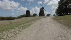 Antigua Windmill Stock Footage
