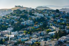 View from Corona Heights Park, in San Francisco, California. Stock Photos