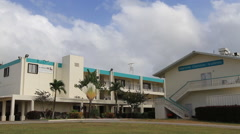 Cluster of Buildings in GUAM, USA Stock Footage