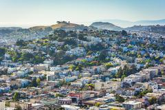 View from Corona Heights Park, in San Francisco, California. - stock photo