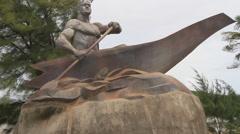 Public Sculpture in GUAM, USA Stock Footage