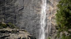 Stock Video Footage of Yosemite Falls Closeup 02