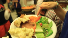 Friends Get together for Dinner on GUAM, USA Stock Footage