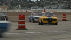Race cars corner 3 Stock Footage