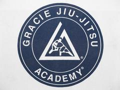 Gracie Jiu-Jistsu Academy Logo Patch Stock Photos