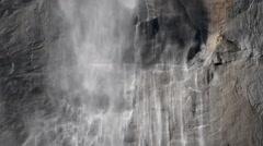 Stock Video Footage of Yosemite Falls Closeup 07