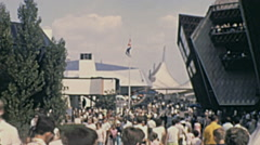 Expo 1967 in Montreal: people visiting the Fair Stock Footage