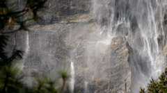 Stock Video Footage of Yosemite Falls Closeup 09