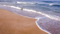 Sea Waves Beach Yellow Sand Blue Water Ocean Island Tropical Sun Summer Vacation Stock Footage
