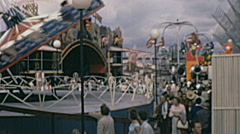Expo 1967 in Montreal:  amusement park inside the fair Stock Footage
