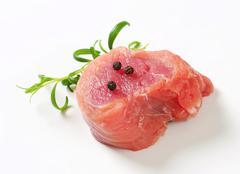Pork Fillet Medallion - studio shot - stock photo