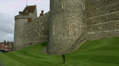 Windsor Castle battlements. 4K Stock Footage