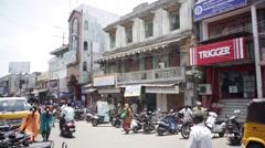 Cycle rickshaw India 1 Stock Footage