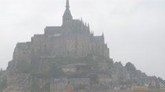 Mont St Michel island   tourist attraction in northern France Bretagne 4k 216 Stock Footage
