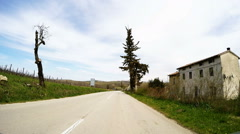 Car driving through Istria - stock footage