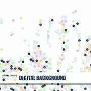 Vector background of different color hexagons Stock Illustration