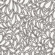 Vector seamless pattern of stylized petals - stock illustration