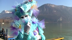 Annecy, France Venetian Carnival Stock Footage