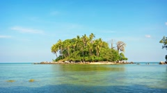 4k video - Very small, undeveloped, tropical island, just off Phuket, Thailan Stock Footage