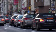 City traffic in Cologne Germany 4k Stock Footage