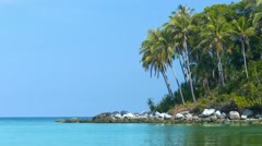 Beautiful, Rocky, Wild, Tropical Beach in Southern Thailand Stock Footage