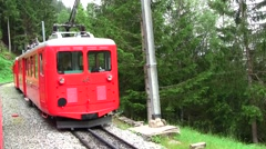Mer de Glace Train, Chamonix, France  Stock Footage