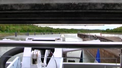 Rhone River Locks, France Stock Footage