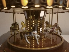 Vintage Stylized Toy Carousel Stock Video Stock Footage