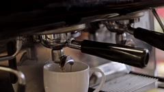 Espresso preparation cappuccino. Close-Up Stock Footage