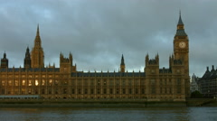 Houses of Parliament, Big Ben and Westminster Bridge in 4K 05 Stock Footage