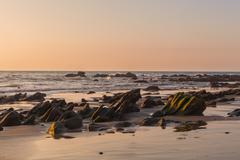 Sundown Over The Pacific Ocean - stock photo