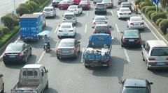 Shenzhen, China: traffic congestion Stock Footage