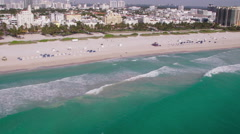 Miami Beach Aerial 1 Stock Footage