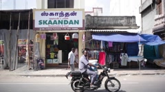 Pedestrians in India Stock Footage