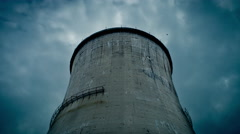 Apocalyptic Cooling tower Stock Footage