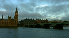 Houses of Parliament, Big Ben and Westminster Bridge in 4K 01 Stock Footage