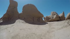 Timelapse of flying through Goblin Valley State Park southern Utah Stock Footage