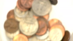 Pile up the coins Stock Footage