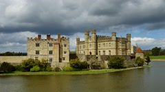 Medieval Leeds Castle in Kent England on River Len #2 - stock footage