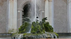Fountain at villa. Villa d'Este. Tivoli, Italy. 1280x720 Stock Footage