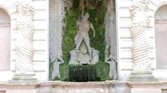 The figure in moss. Villa d'Este. Tivoli, Italy Stock Footage