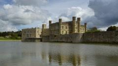 Medieval Leeds Castle in Kent England on River Len #4 Stock Footage