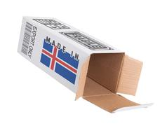 Concept of export - Product of Iceland - stock photo