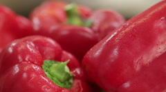 red bell pepper close up - stock footage