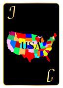USA Playing Card Joker Piirros