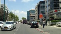 Driving in Tel Aviv, Habarzel Street Stock Footage